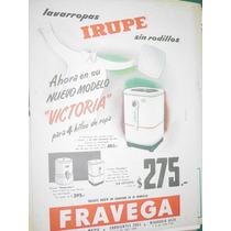 Publicidad Antigua Lavarropas Irupe Modelo Victoria Fravega