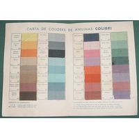 Publicidad Carta De Colores Anilinas Colibri Tinturas Detall