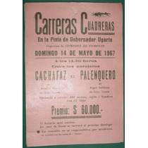 Afiche Criollo Carreras Cuadreras Ugarte Cachafaz Caballos