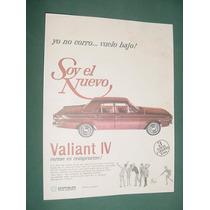 Publicidad Automoviles Chrysler Valiant 4 - Nuevo Vuelo Bajo