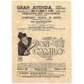 Antiguo Programa Del Cine Teatro Avenida Año 1954