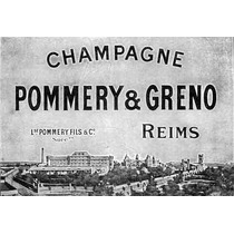 Carteles Antiguos Chapa 20x30cm Pommery Champagne Dr-195