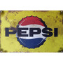 Cartel Antiguo Pepsi Mediano 60x40cm Chapa Gruesa (1,25mm)