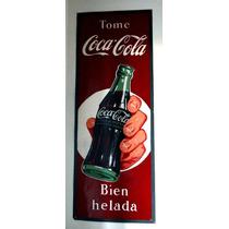 120 X 45cm Antiguo Cartel Coca Cola Original Litografiado