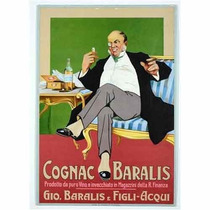 Carteles Antiguos De Chapa Gruesa 20x30cm Cognac Dr-182