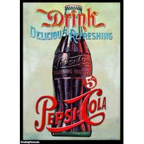 Carteles Antiguos En Chapa Gruesa 20x30cm Pepsi Cola Dr-027