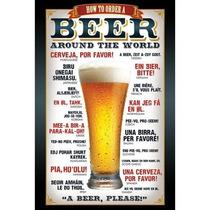 Carteles Antiguos Chapa Gruesa Cerveza Beer 22.5x15cm Dr-97