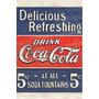 Carteles Antiguos En Chapa Gruesa 20x30cm Coca Cola Dr-010