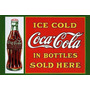 Carteles Antiguos De Chapa Gruesa 60x40cm Coca Cola Dr-009