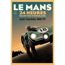 Poster Carteles Antiguos Chapa 60x40cm Le Mans 24hs Au-328