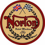 Carteles Antiguos Chapa Gruesa 50cm Moto Norton Mot-018