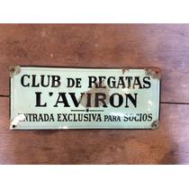 Antiguo Cartel Bombé Enlozado. Club Remo,tigre,l