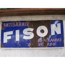 Cartel Enlozado Antiguo Fison Antisarnicos