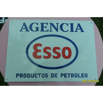 Réplica Antiguo Cartel Agencia Esso Mide 47 X 34 Cm