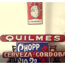 Antiguo Cartel Madera Original Cerveceria Argentina Quilmes