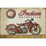 Carteles Antiguos Chapa Gruesa 60x40cm Moto Indian Mot-059