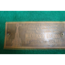 Cartel-chapa Antiguo Taller El Molino , Raro, Miralo