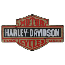 Carteles Antiguo Chapa Grande 75x45cm Harley Davidson A-073