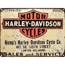 Carteles Chapa Vintage Publicidades 60x40 Harley Moto -434