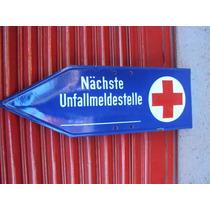 Cartel Enlozado Antiguo Aleman Cruz Roja Original