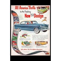 Poster Carteles Antiguo De Chapa Gruesa 60x40cm Dodge Au-217