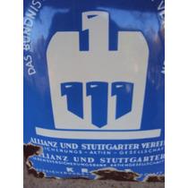 Cartel Enlozado Antiguo Aleman Club De Futbol Original