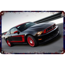 Carteles Antiguos 60x40cm Ford Mustang Shelby Cobra Au-045