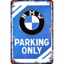 Carteles Antiguos 60x40cm Parking Only Moto Auto Bmw Pa-20