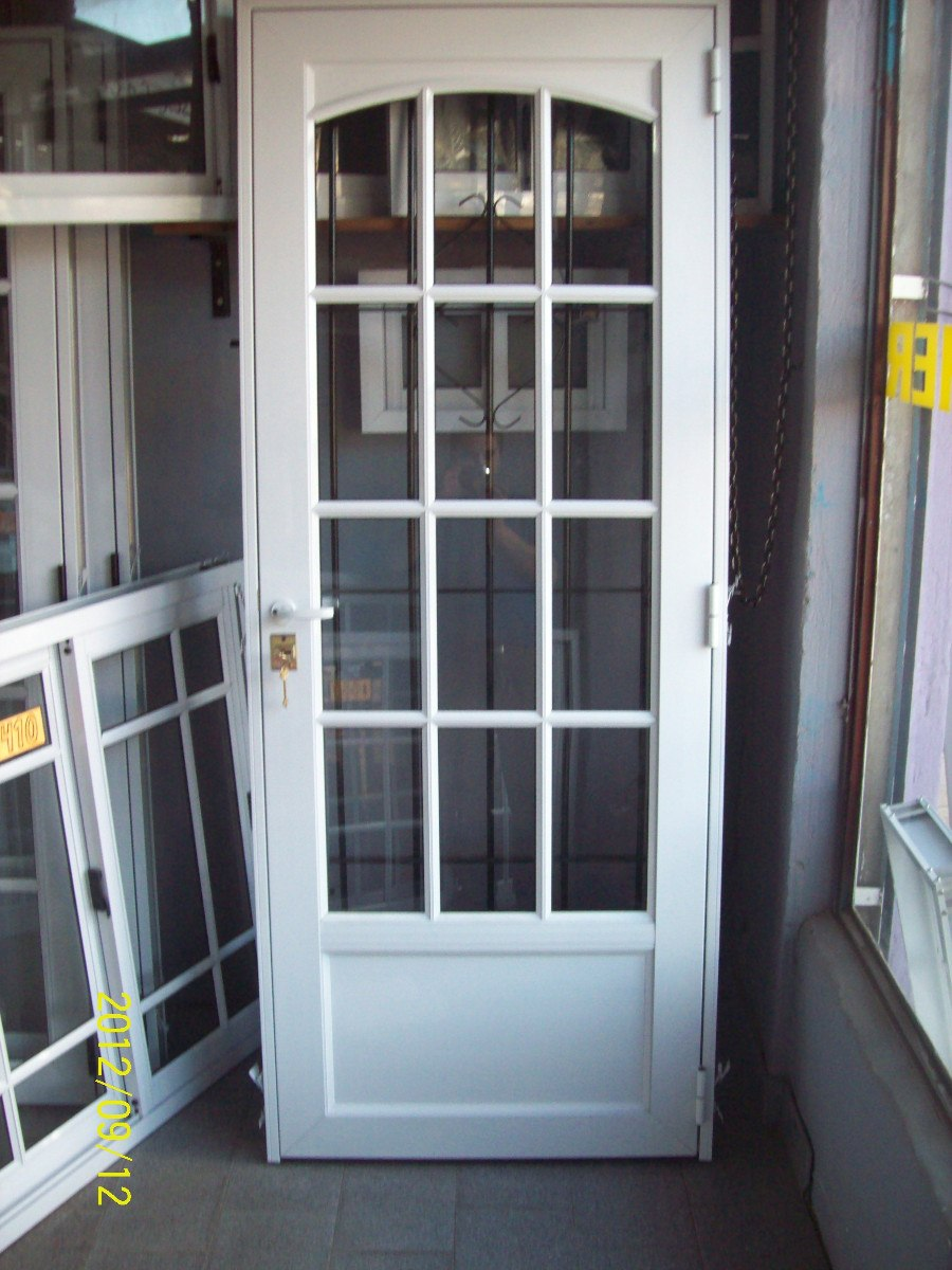 Puertas de aluminio con cristal para exterior amazing for Puertas de entrada con vidrio