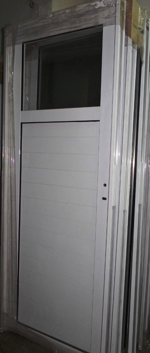 Puerta Exterior Aluminio Blanco 12 Vidrio Entero De Abrir 5135 ...