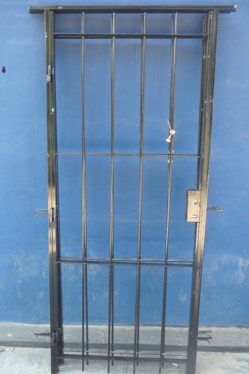 Pin puerta reja hierro redondo del para estandar rejas for Modelos de rejas de fierro para puertas
