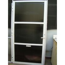 Puerta De Aluminio Blanco De 1.95mx99.5cm