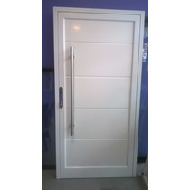 Puerta De Entrada De Aluminio Modena Con Panel De Pvc