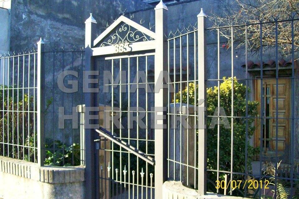Puertas de hierro rejas para frentes inviolables 8 - Rejas de hierro para puertas ...