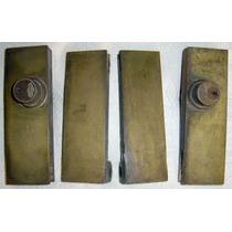 Herrajes p blindex p puerta 2 bisagras 2 cerraduras bronce for Herrajes muebles antiguos