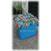 Puff Estructura Rigida,funda Crochet Totora