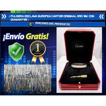 Pulsera Esclava Estilo Europeo Oro 18k Con Diamantes