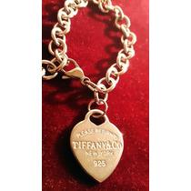 Pulsera Corazón Tiffany Largo 20 Cm Acero 316 L Precio Únic