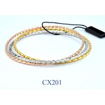 Esclavas 3 Colores Torneada Acero Quirúrgico Cx201