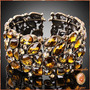 Precioso Brazalete Con Cristales Austríacos Brunette