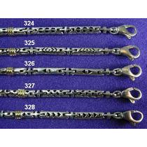 Pulseras Plata 925 Y Oro 18 Klt (tubos Grandes)