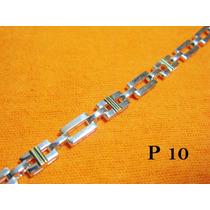 Pulseras De Plata 925 Y Oro 18 Klt (doble Trazo)