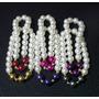 Conjunto De 6 Pulseras En Perlas Combinadas Calidad Premium