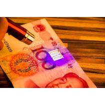 Puntero Laser Rojo + Uv Violeta Descubre Billetes Falsos