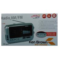 Radio Portatil Am/fm - Usb-sd-mic- Linterna Ken Brown Dx410