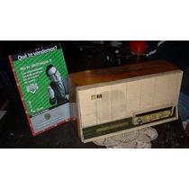 Antigua Radio Valvular General Electric Funciona (3441r)