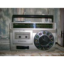 Antiguo Radio Radiograbador Internacional Luces En Parlante