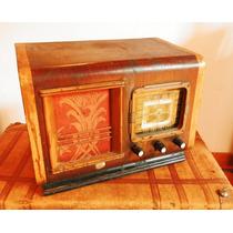 Radio Valvular Antigua Funcionando Onda Corta Coleccionista
