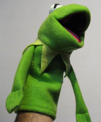 Como hacer un titere de kermit imagui - Como hacer marionetas de mano ...