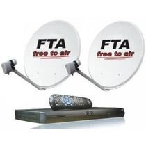 Kit Tv Satelital Fta 2 Antenas Wifi Google Youtube Hd 1080p